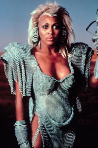 Tina Tuner as ruler of Bartertown in Mad Max 3