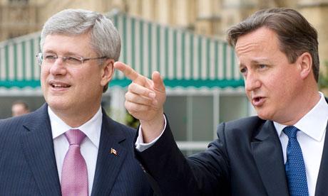 David Cameron and Stephen Harper