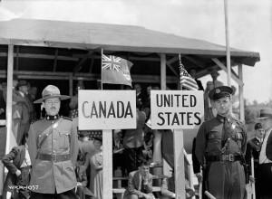 Canada US border history
