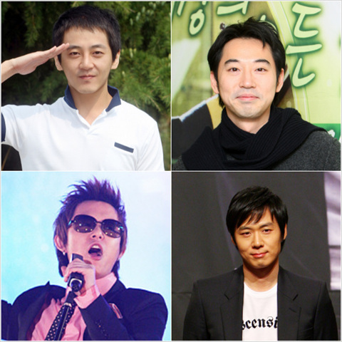Clockwise from top-left: Jay Yoon, Yiruma, Yeon Jung-hoon, and Tony An