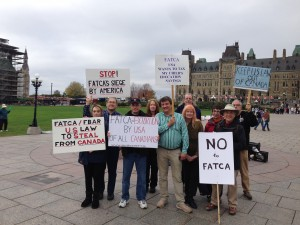 FATCA Protest, Parliament Hill, October 16, 2013