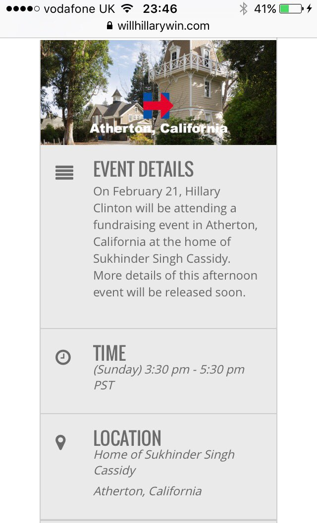 Hillary was busy with a fundraiser and had no time to meet with expats